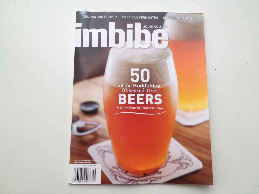 Nick Drinks - Imbibe September Issue Cover