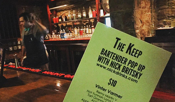 Nick Drinks Pop-Up