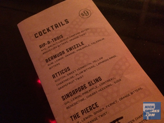The Cocktail Menu at Bar-X owned by Ty Burrell, Salt Lake City, Utah via NickDrinks.com - Nick Britsky