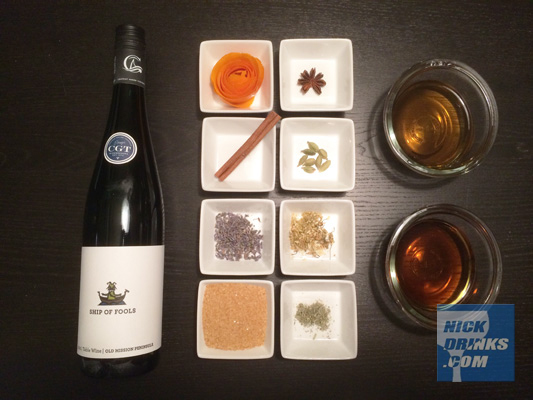 Ingredients to make your own Sweet Vermouth - NickDrinks.com