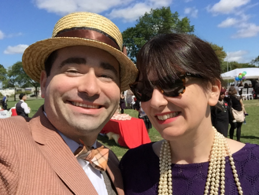 Our Couple Shot @ The Detroit Gatsby Lawn Party 2015 - Nick Drinks Blog