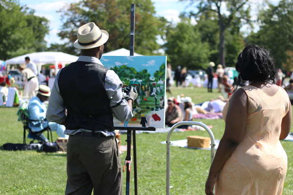 Painting in the Park @ The Detroit Gatsby Lawn Party 2015 - Nick Drinks Blog